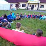 Park linowy na zielonej szkole